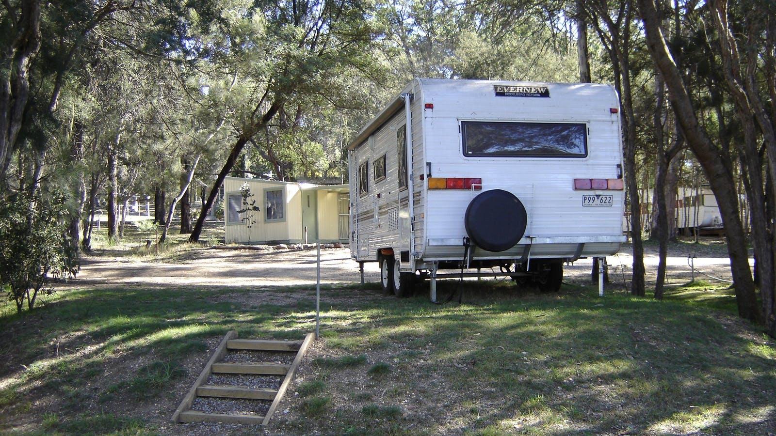 Caravan sites in bush setting