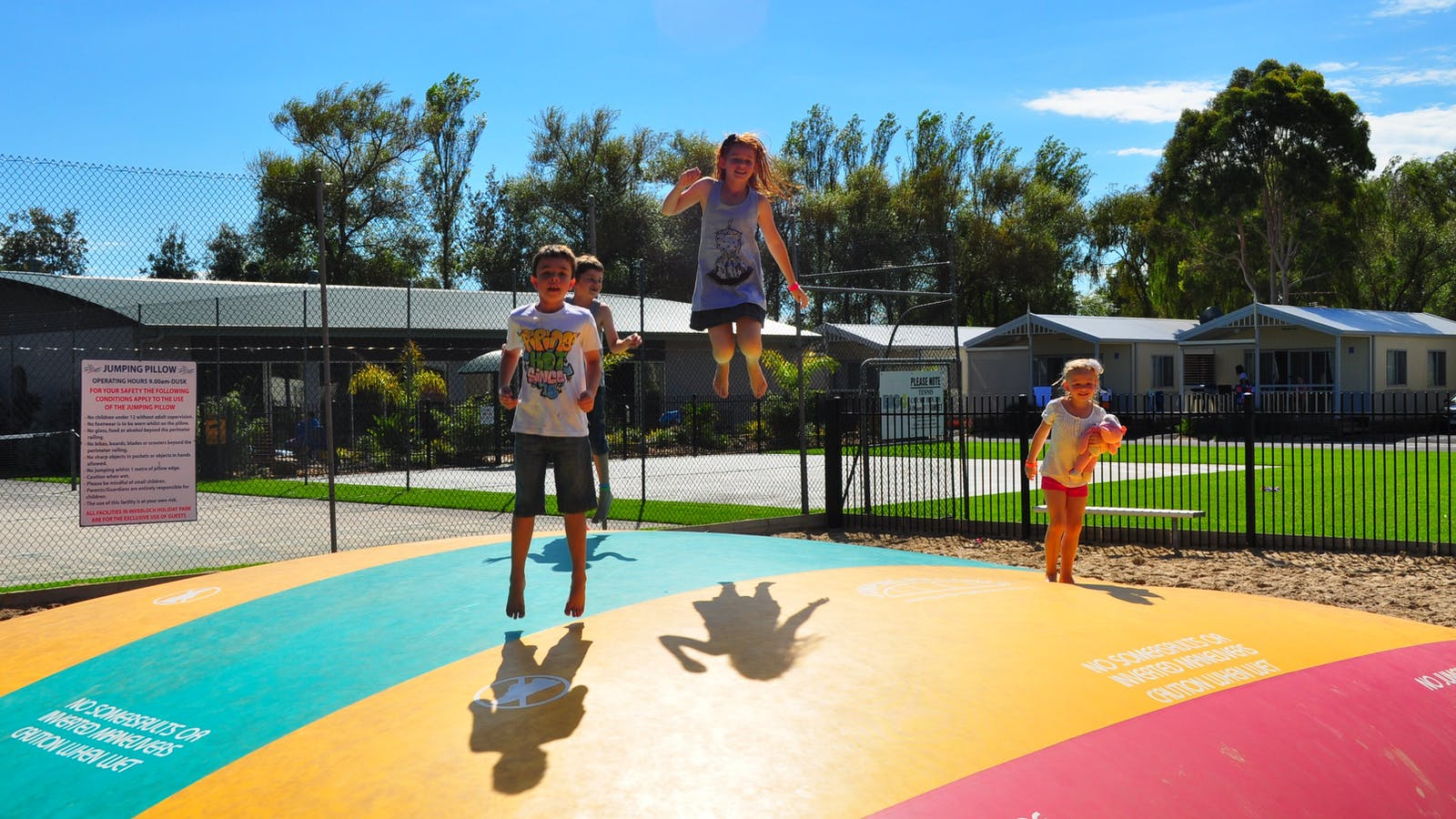 Great fun on the jumping pillow