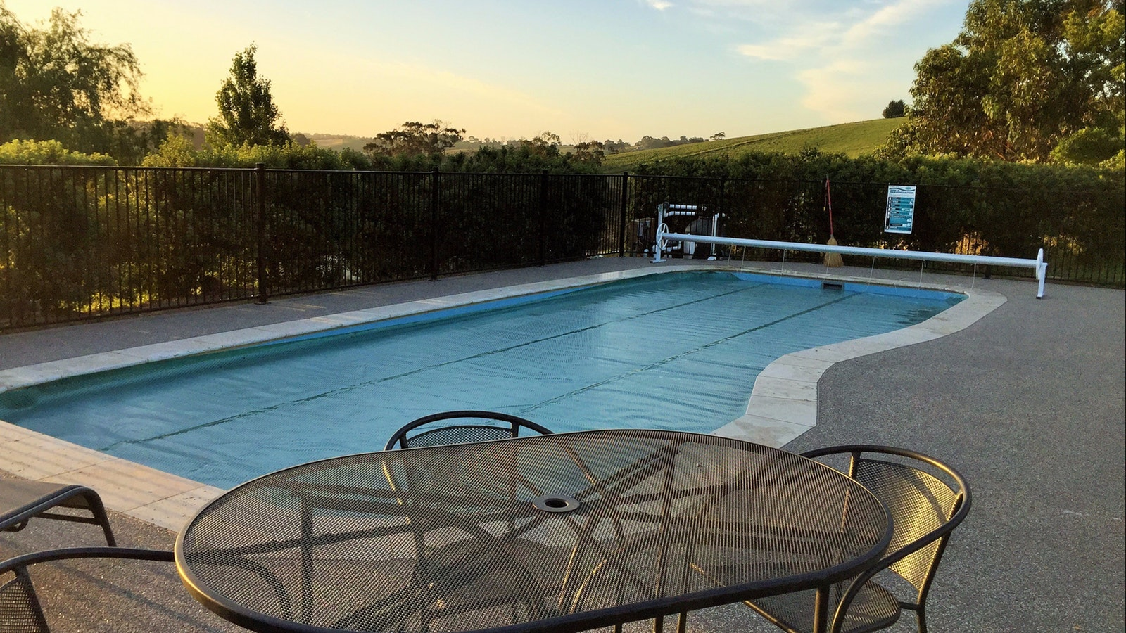 Outdoor Pool with Country views