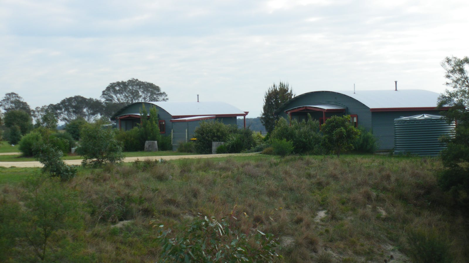 view of two cottages