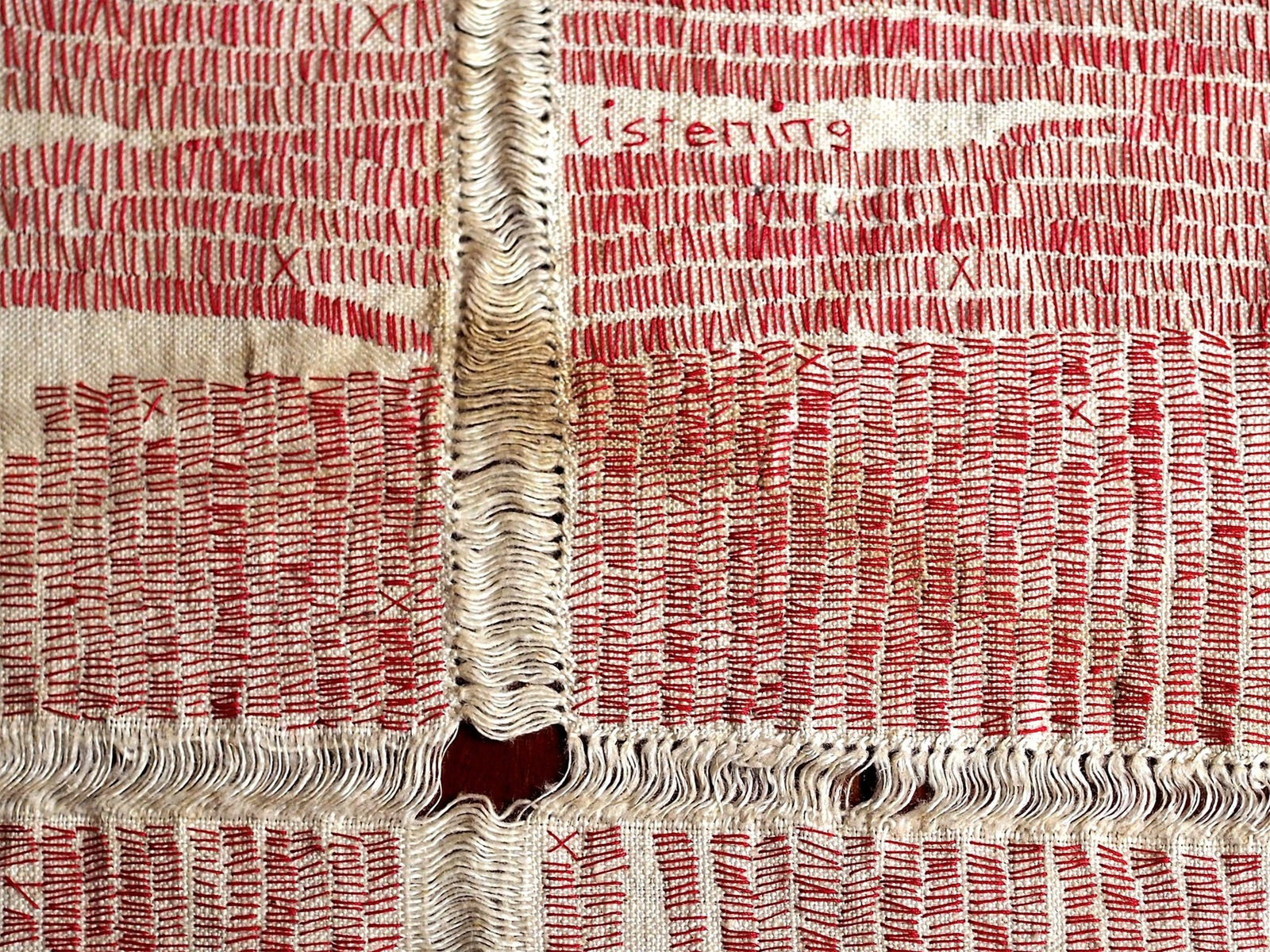 Nonie Sutcliffe, Listening Cloth (detail)