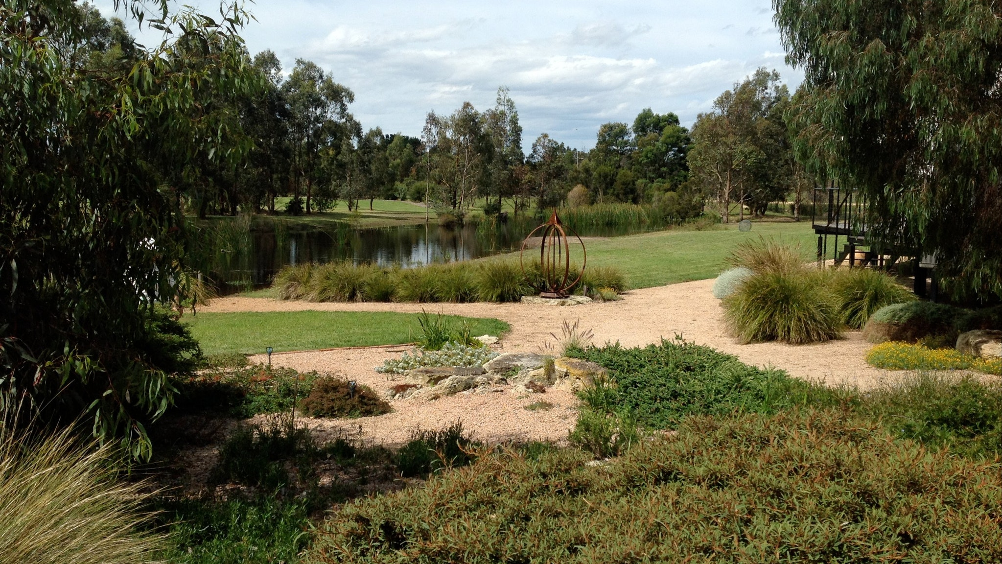 Beautifully landscaped native garden at Longford