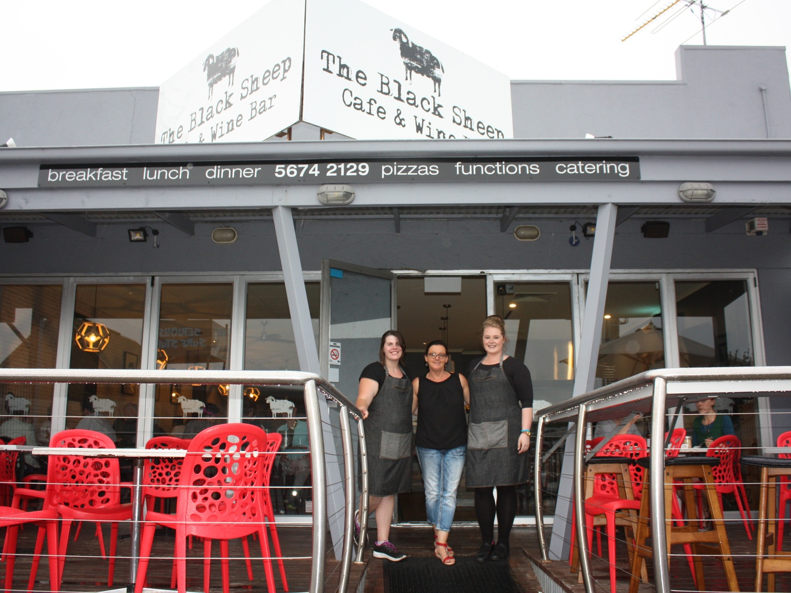 Darlene, Kris and Cassie welcome you the the Black Sheep