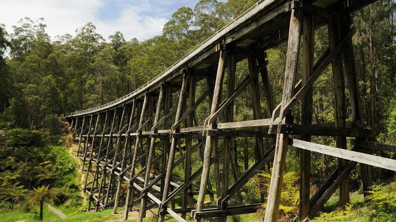 Noojee Trestle Bridge, Noojee, Gippsland, Victoria, Australia