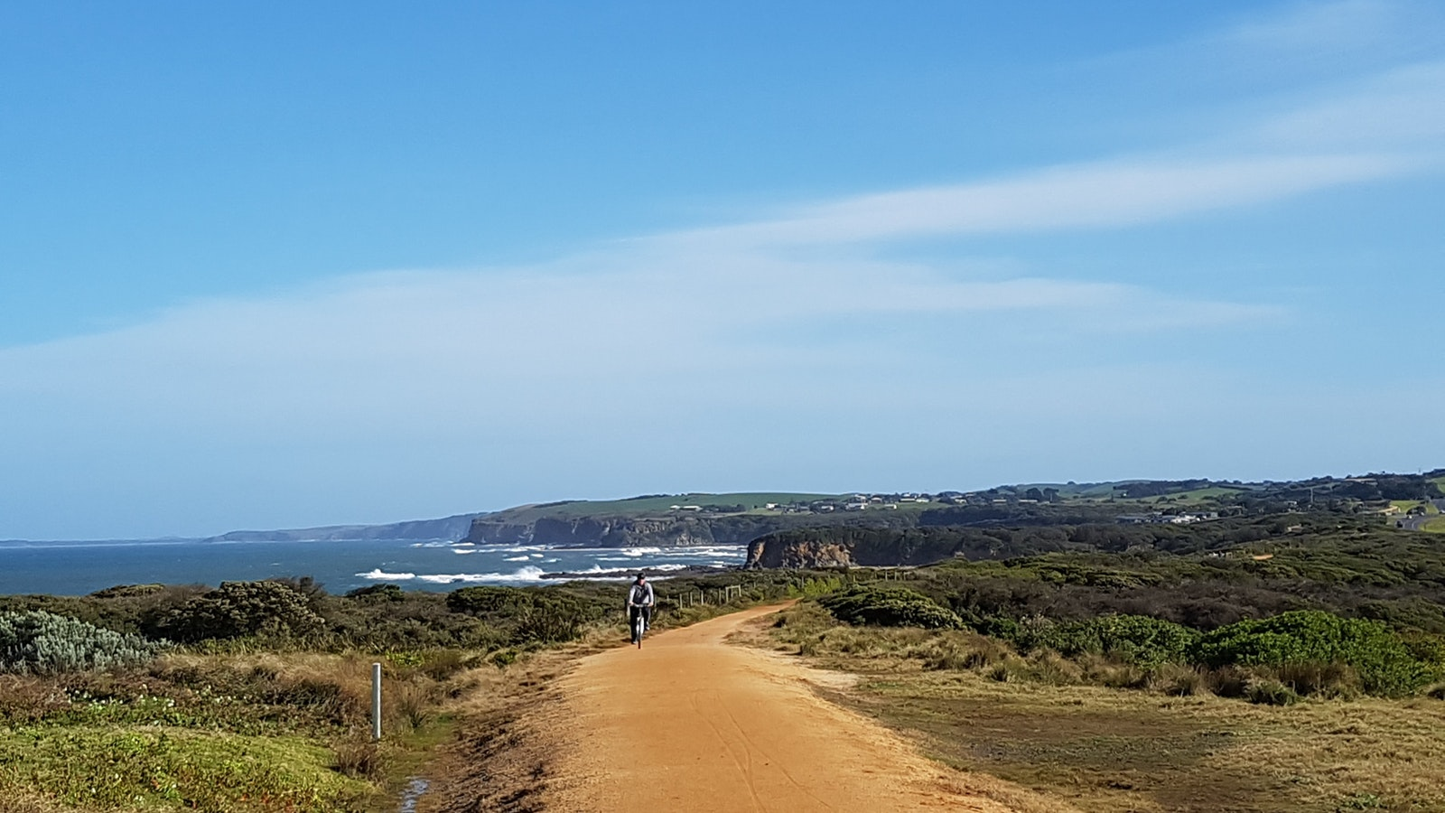 Love the vews of the wild ocean as you cycle the Bass Coast Rail Trail