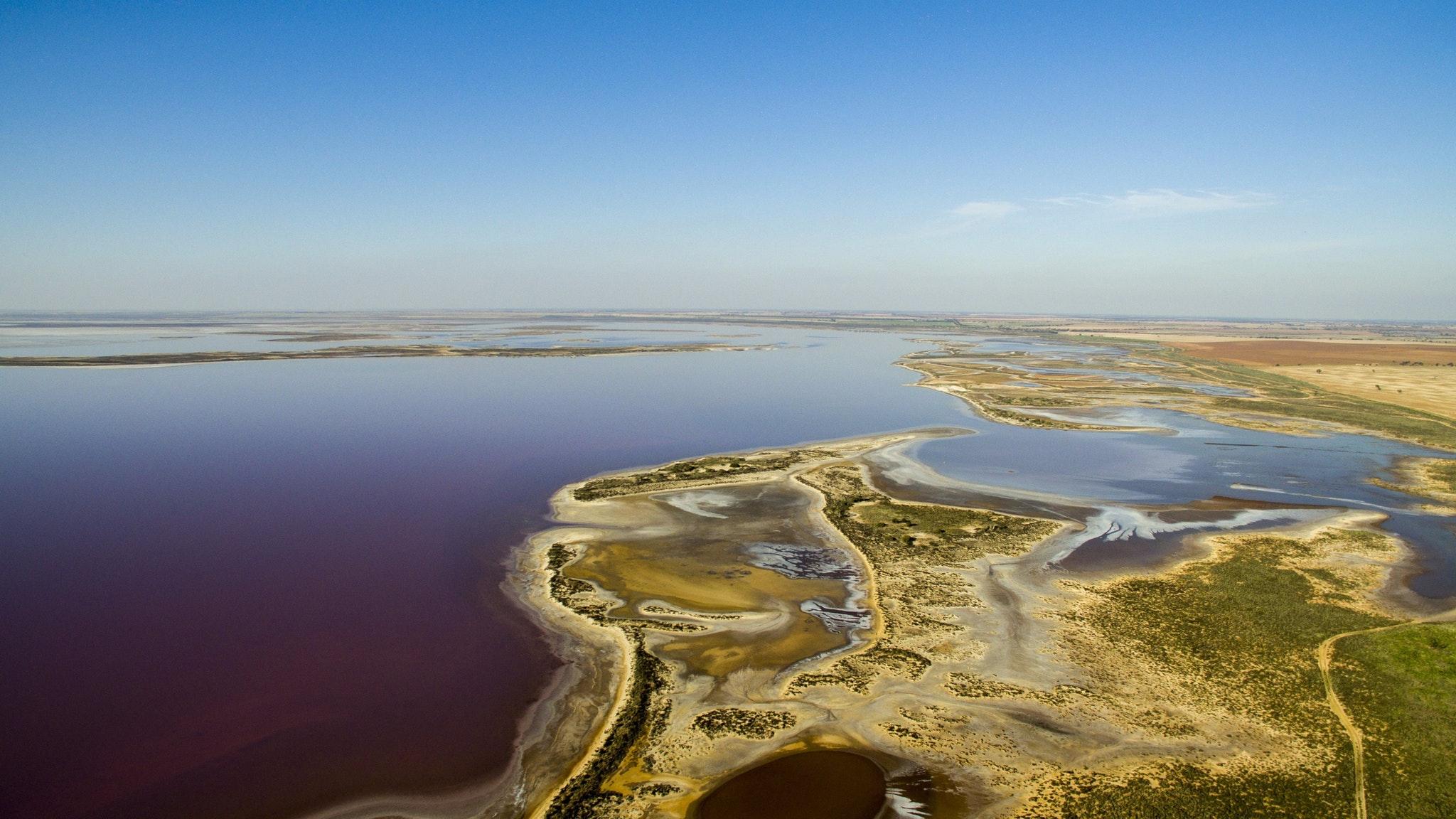 Promhelis Flight - Lake Tyrell, The Pink Lake