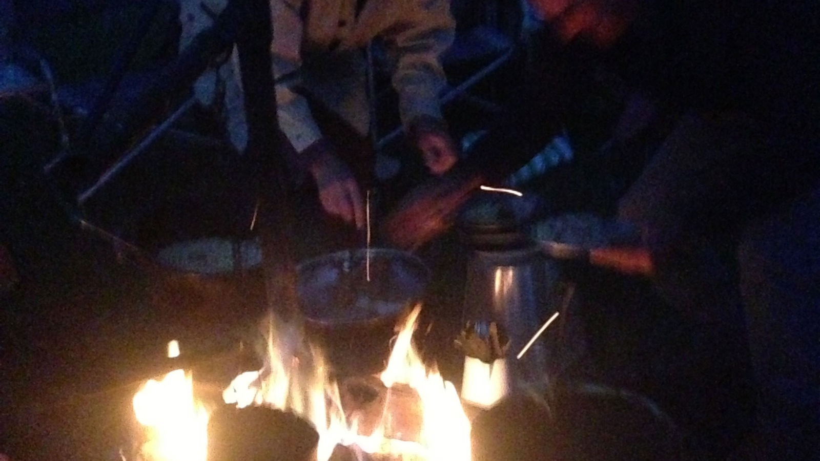 laughter around the campfire