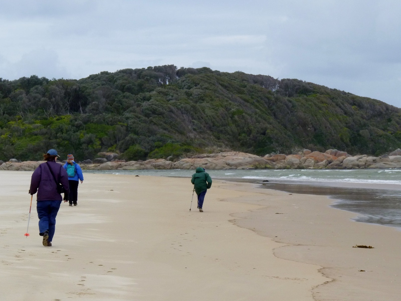 Walking along deserted Croajingolong beaches