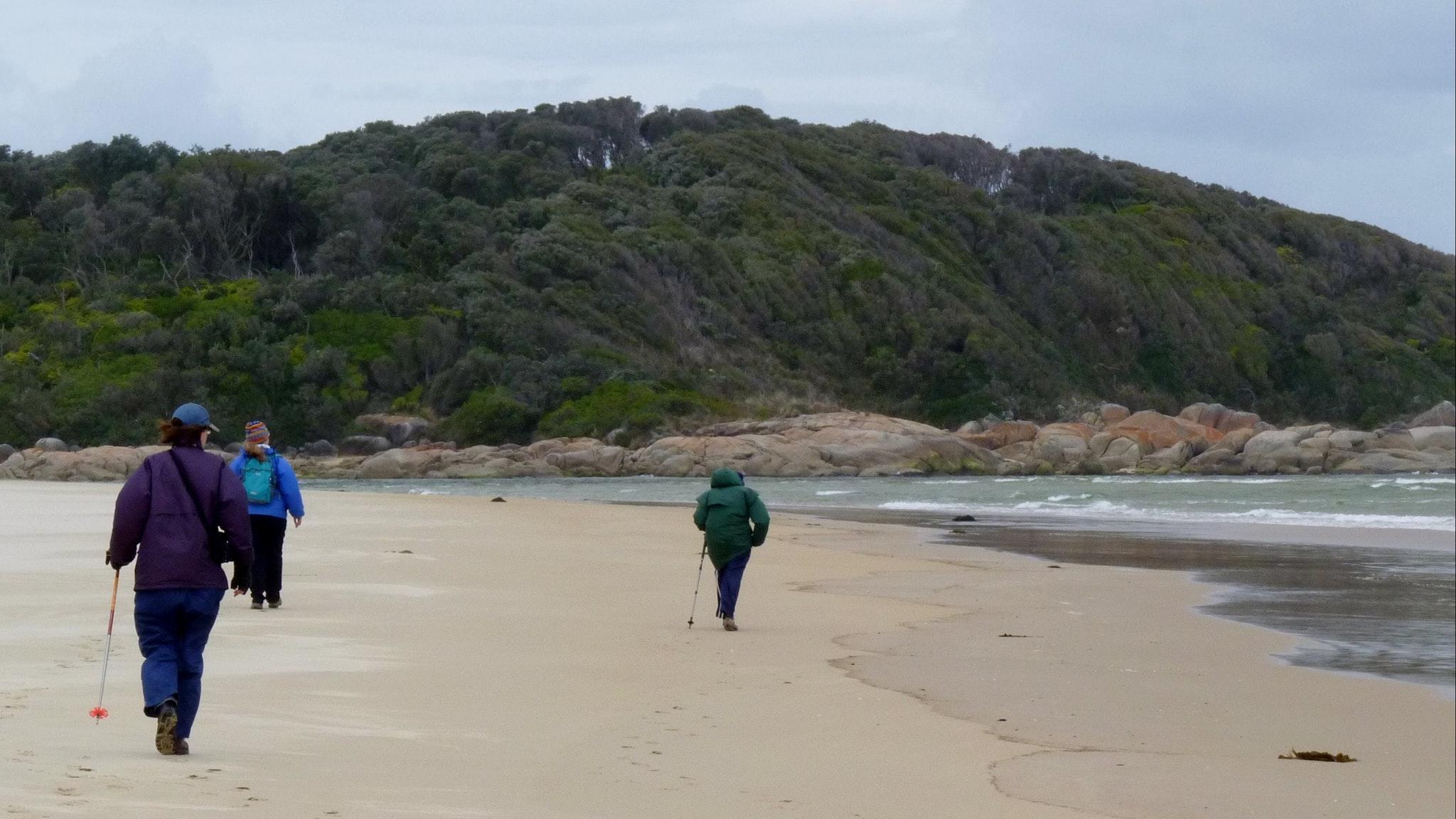 Walking along deserted Croajingolong beaches