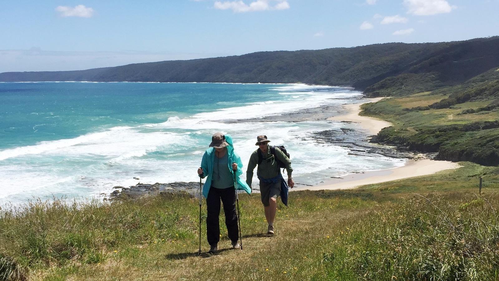 A little bit up on the Great Ocean Walk