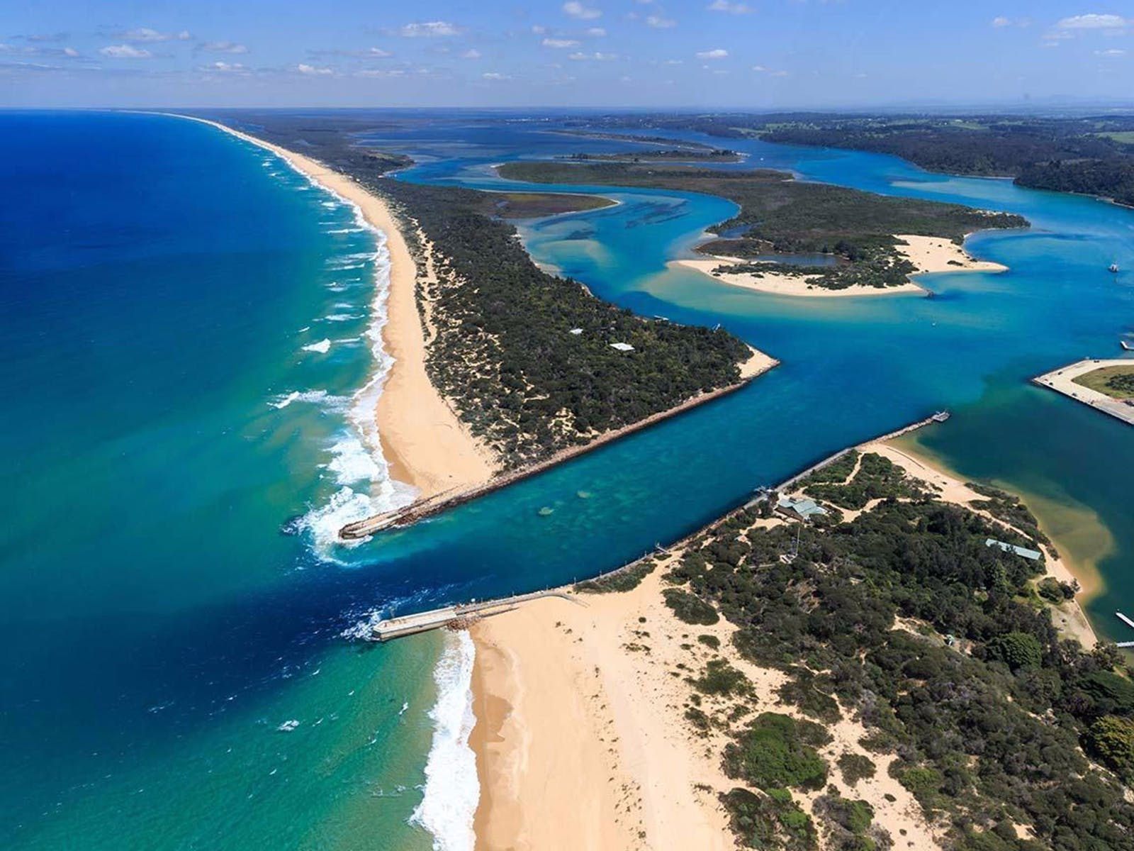 Lakes Entrance Aerial View