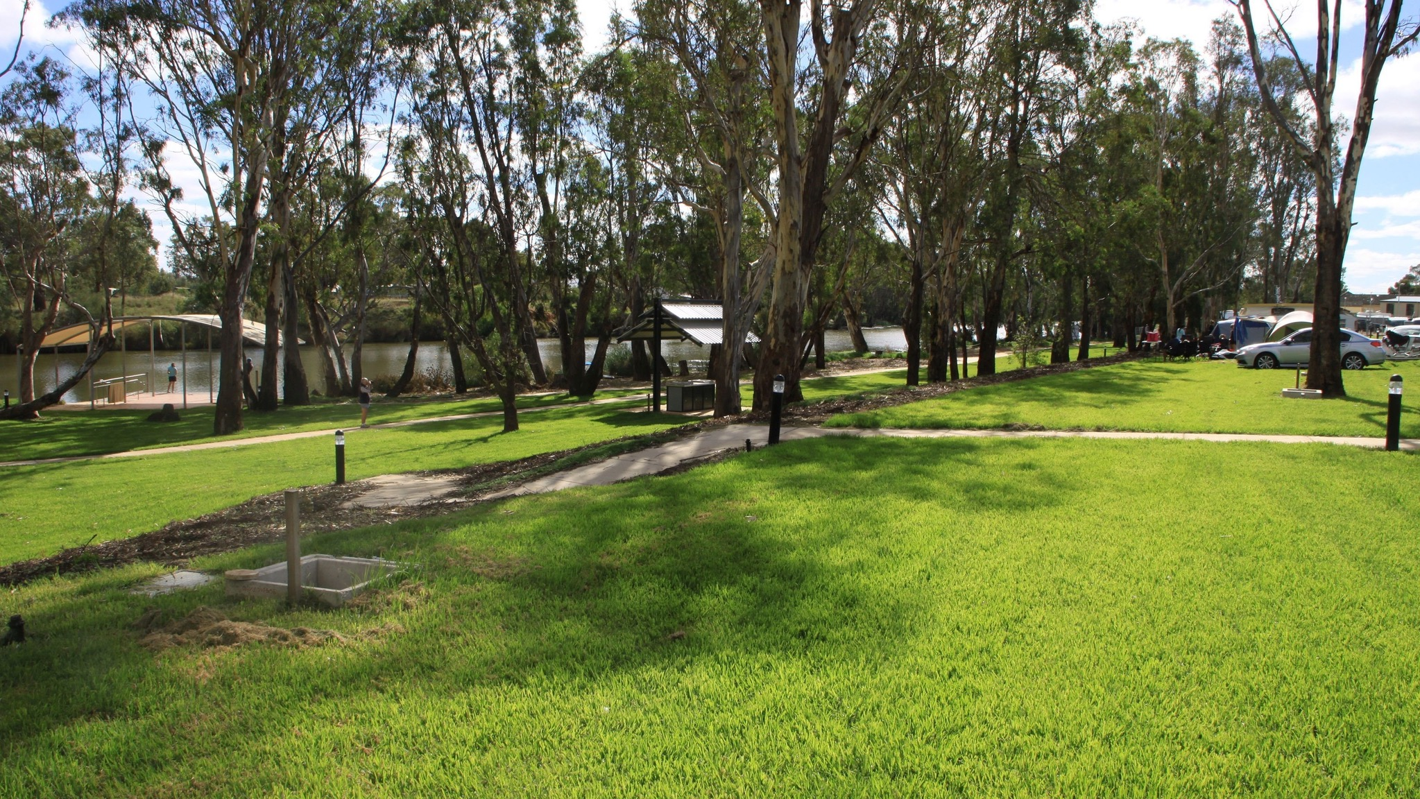 Sites at the Bridgewater Public Caravan Park