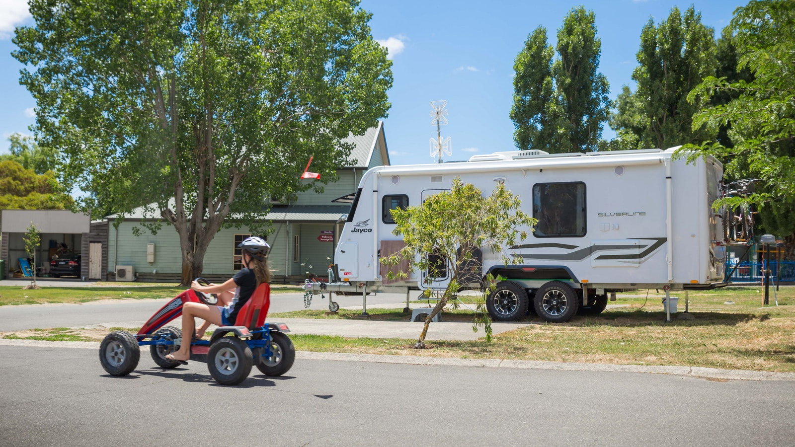 Sites for caravans and tents