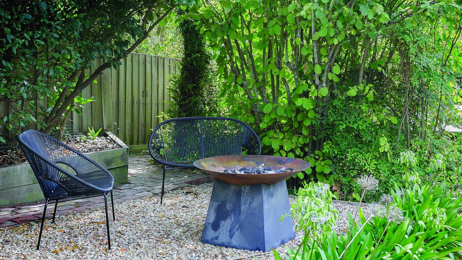 Relax in the rear garden