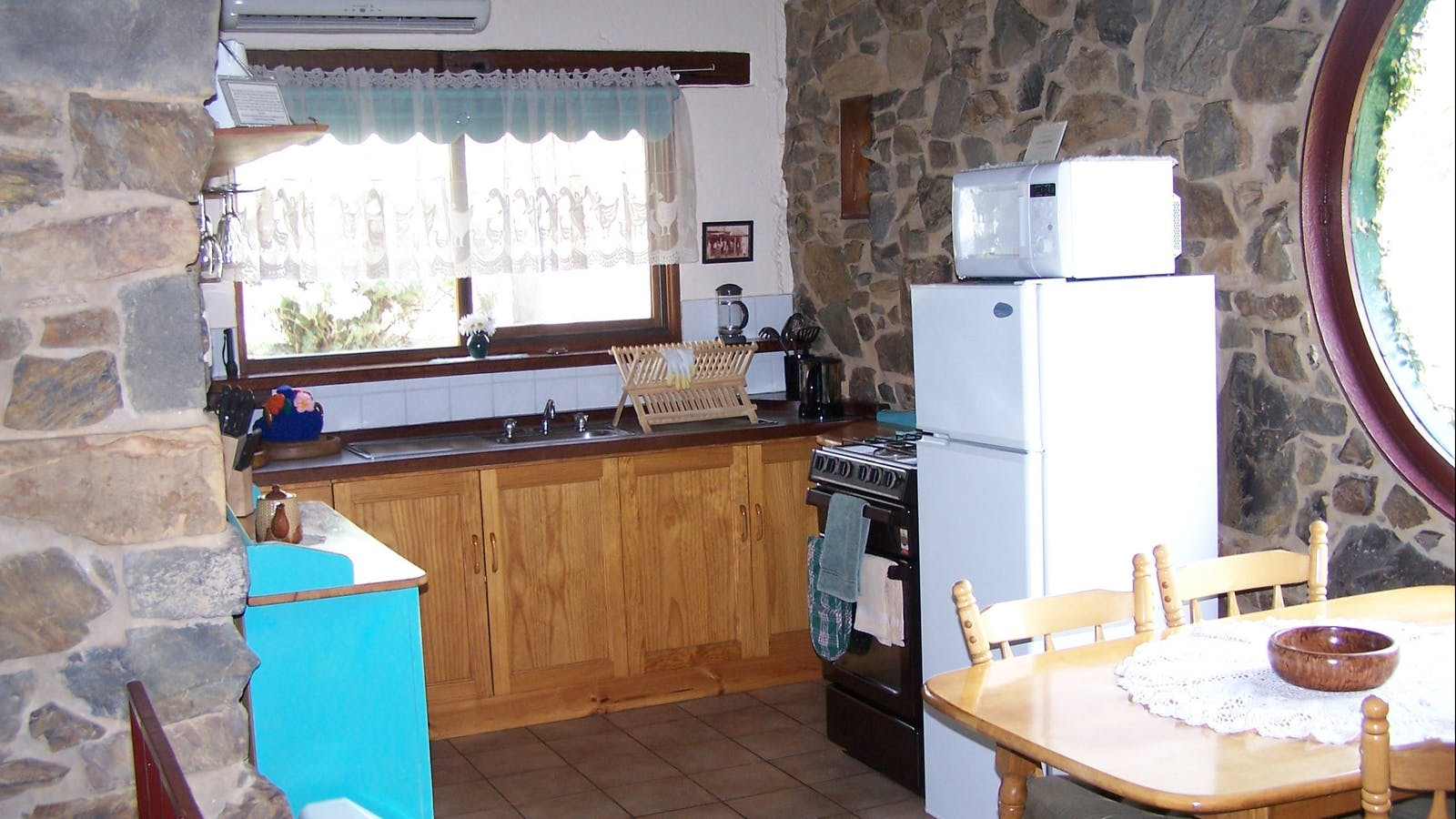 In the kitchen area