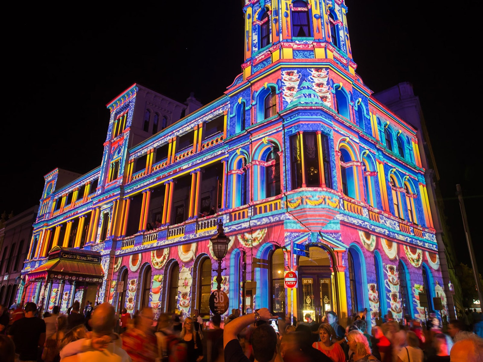 Craig's Royal Hotel - White Night Ballarat 2017