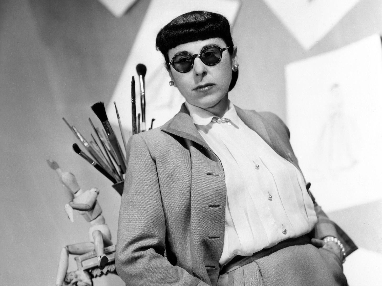 Edith Head in her studio