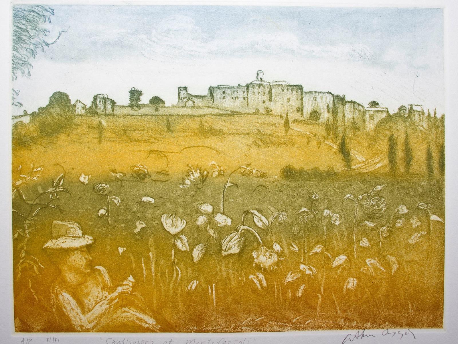 Arthur Boyd 'Sunflowers at Montefoscoli