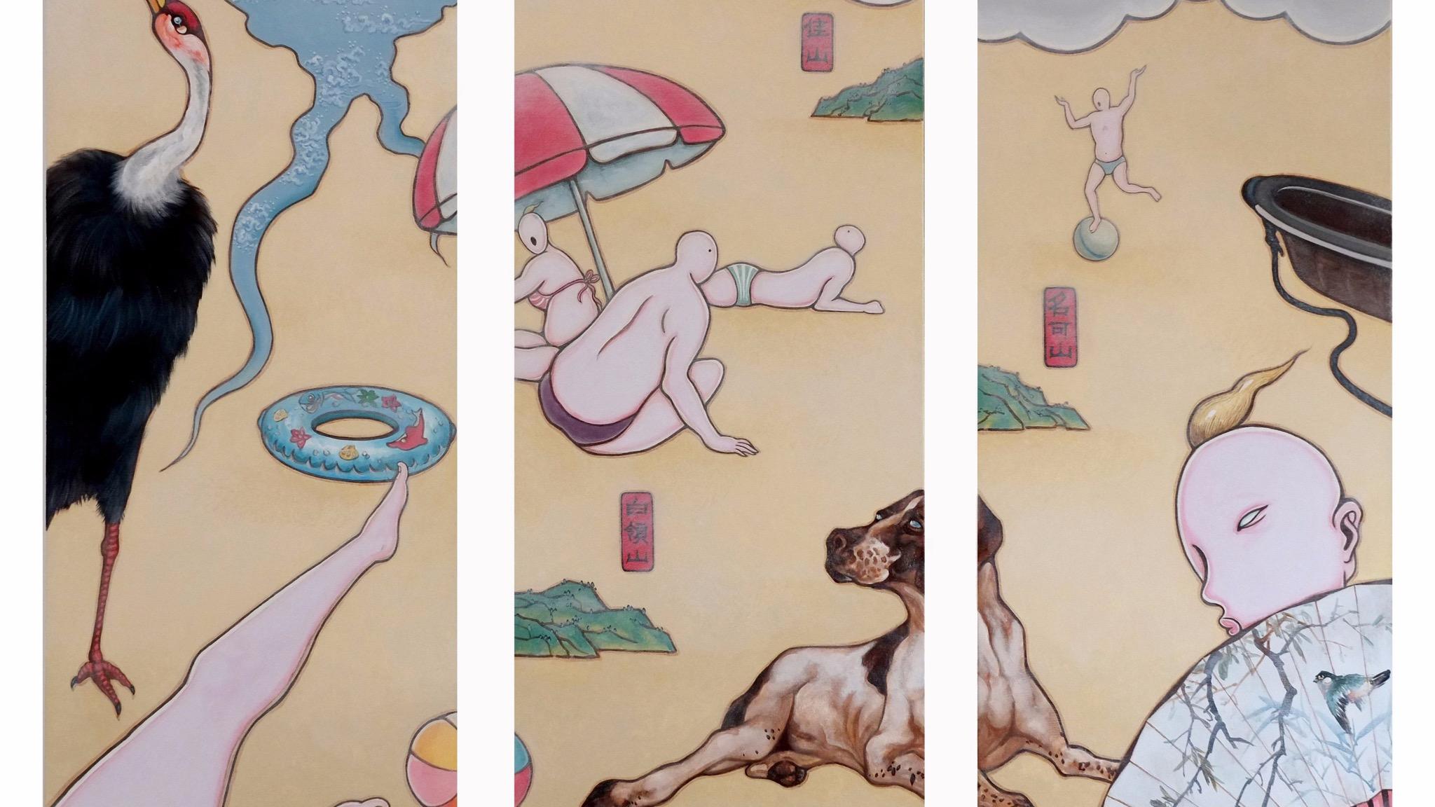 Guan Wei, Beach 5 2014. AGMPP2015, acrylic on canvas