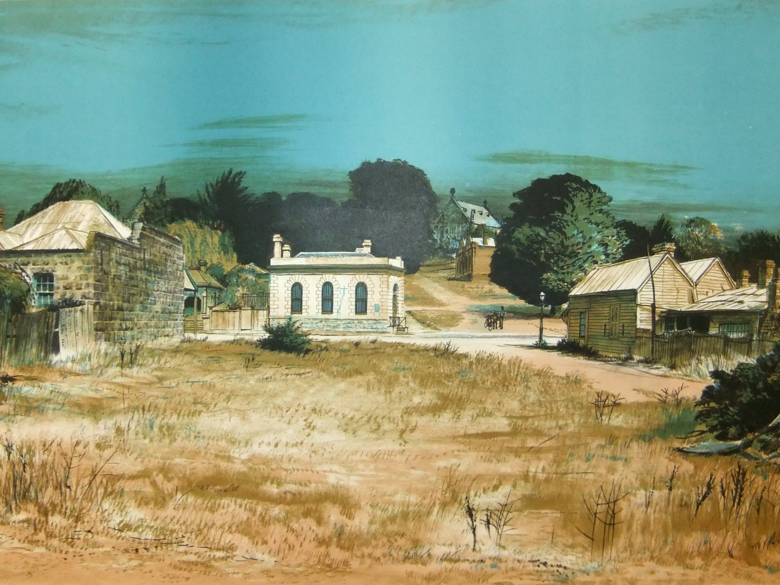 Kenneth Jack 'Clunes VIC' 1971 Lithograph 43*69 cm