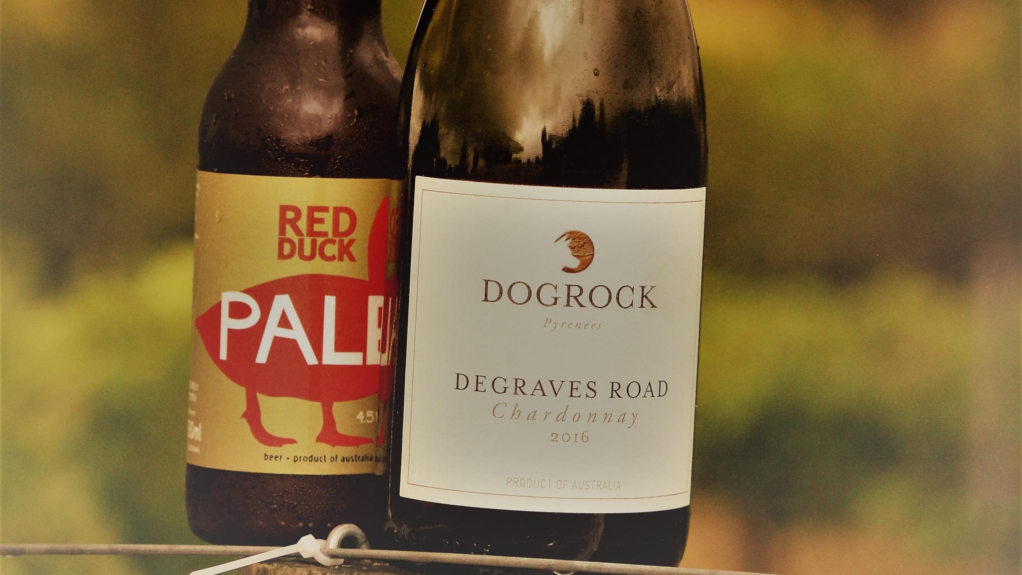 Red Duck beer or DogRock wine?