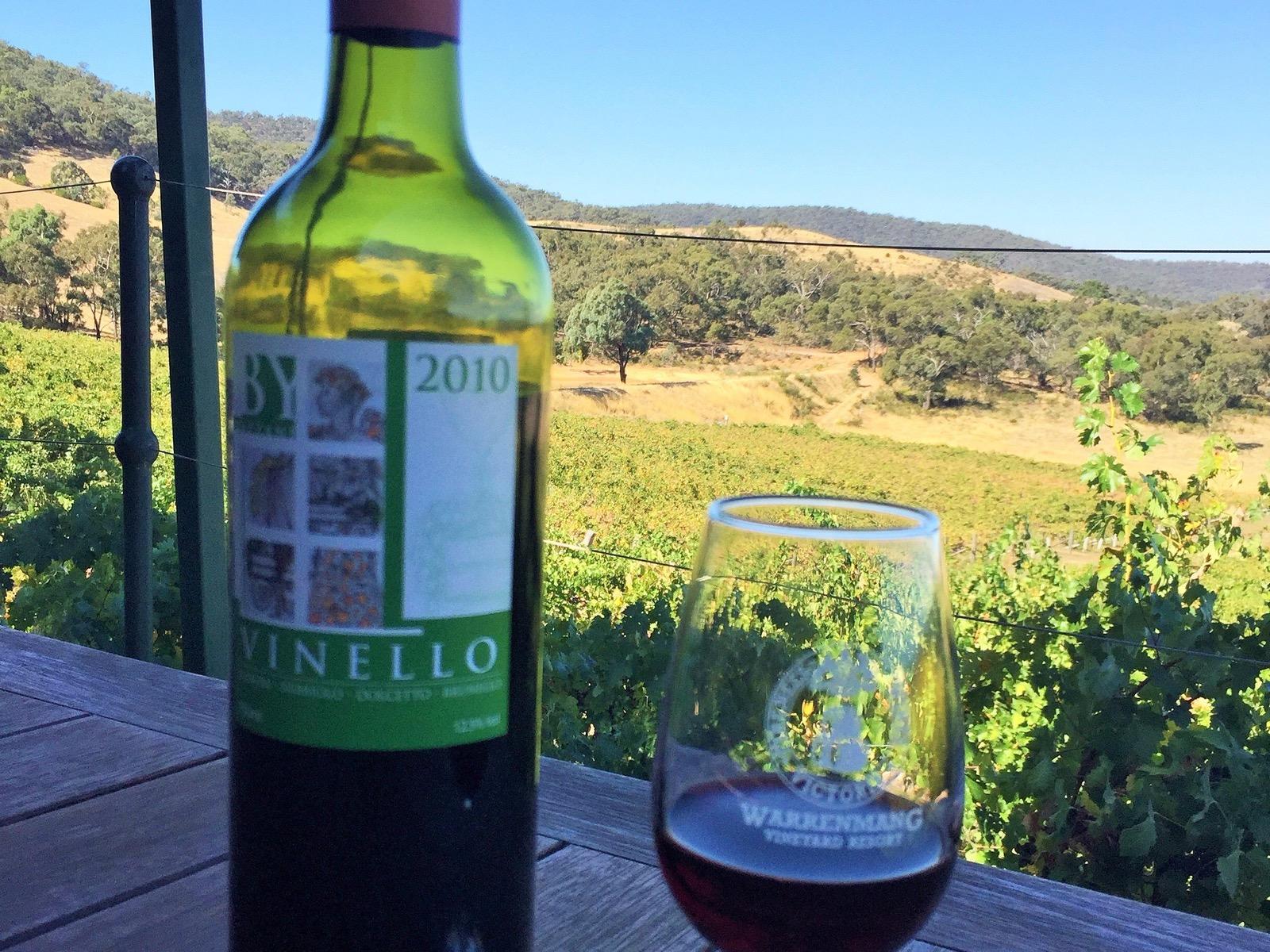 Vinello wine enjoyed on the deck