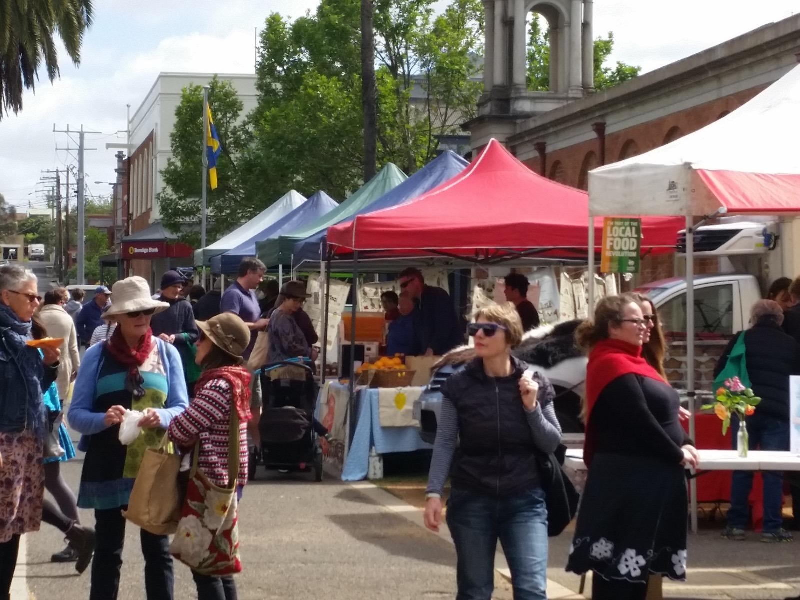 Market alongside the Market Building