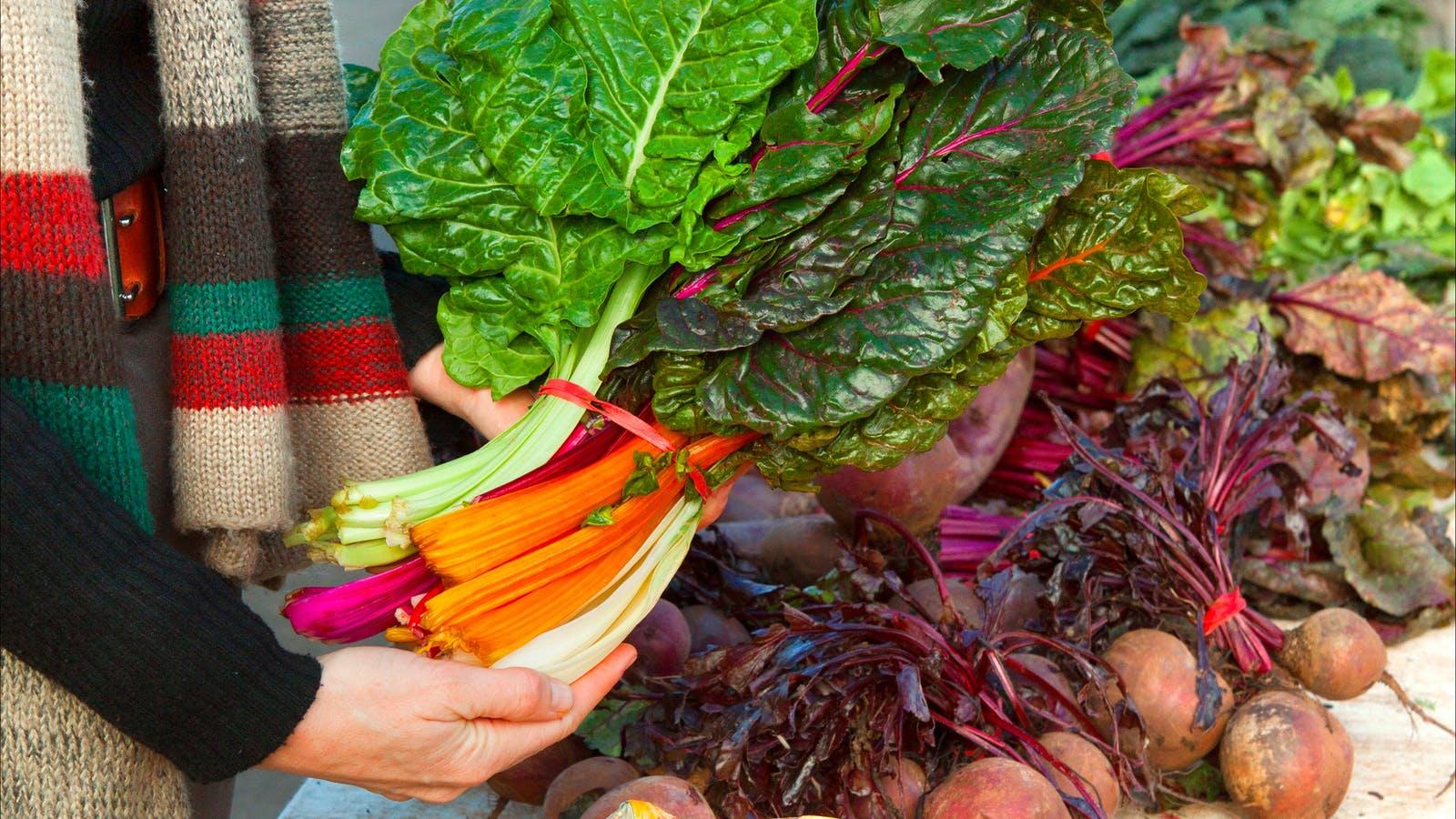 Beautiful fresh, seasonal and organic vegetables