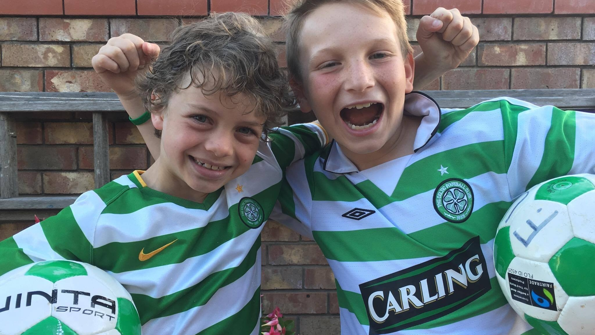 These boys cant wait to show of their skills to the Celtic FC coaches