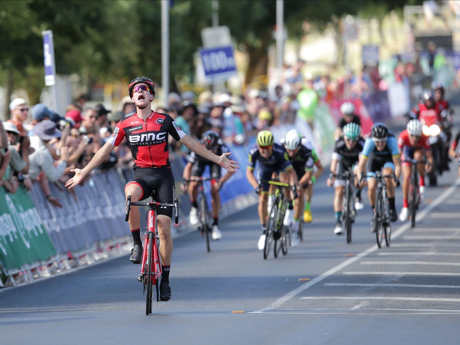 Miles Scoton BMC Celebrates his national title win