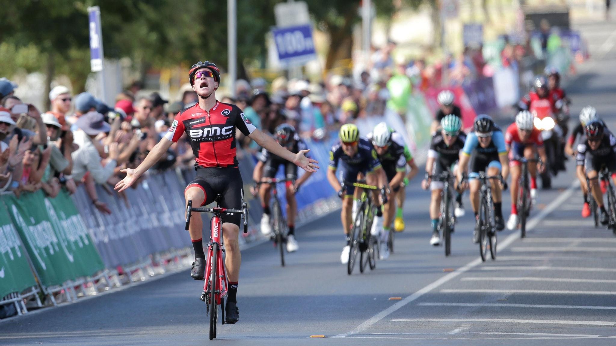 Miles Scoton BMC Celebrates his national title win