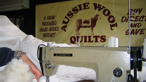 Sewing Aussie Wool Quilts-Boort