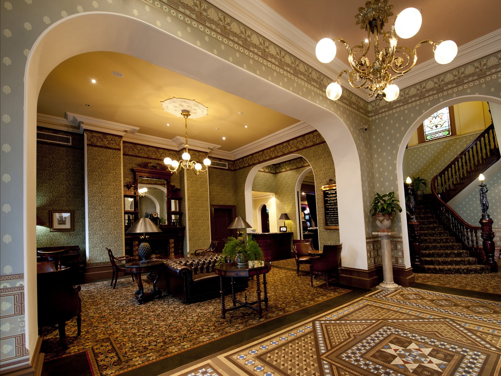 The lobby entrance at Craig's Royal Hotel