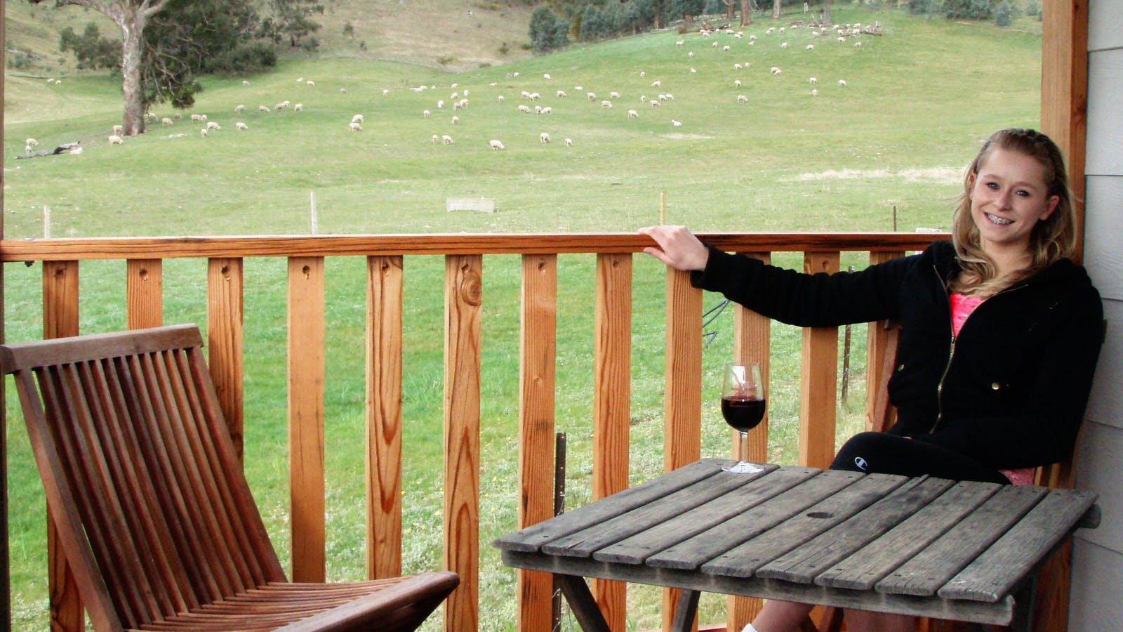 Cottage verandah - Wimmera Hills Winery