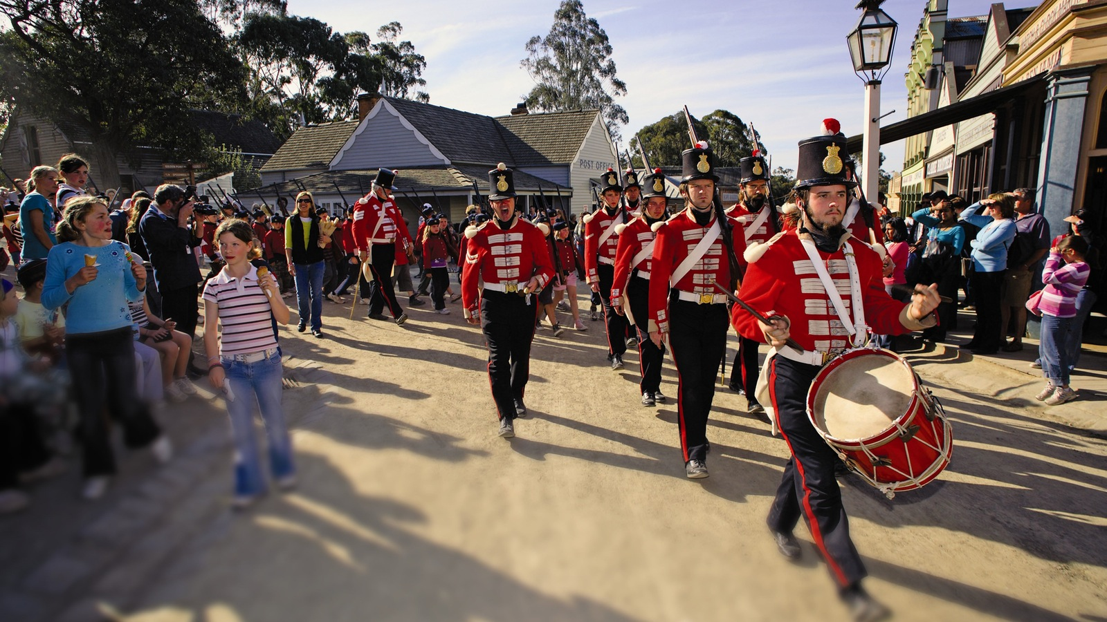 Redcoat Soldiers marching at Sovereign Hill
