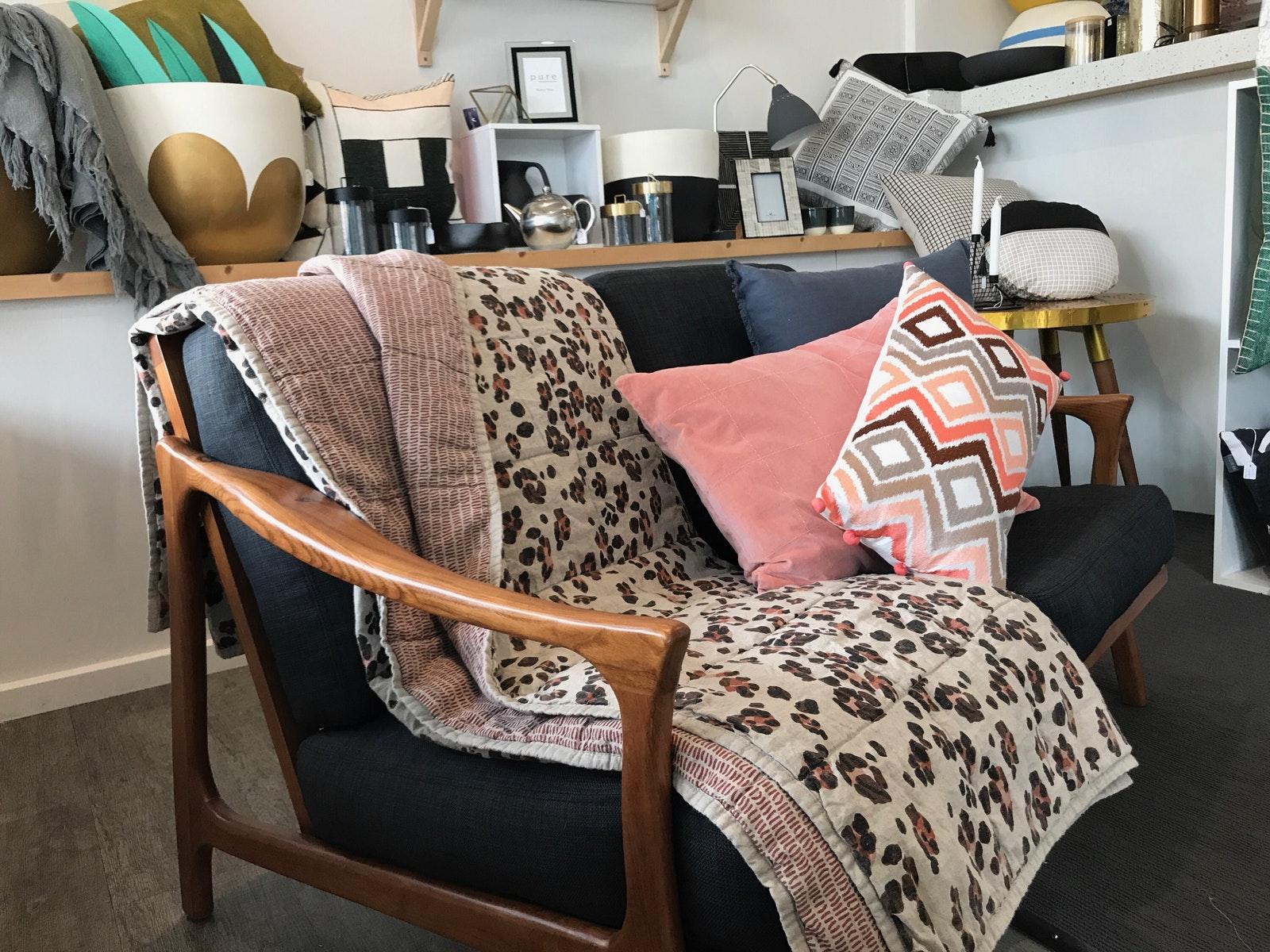 Homewares cushion blanket