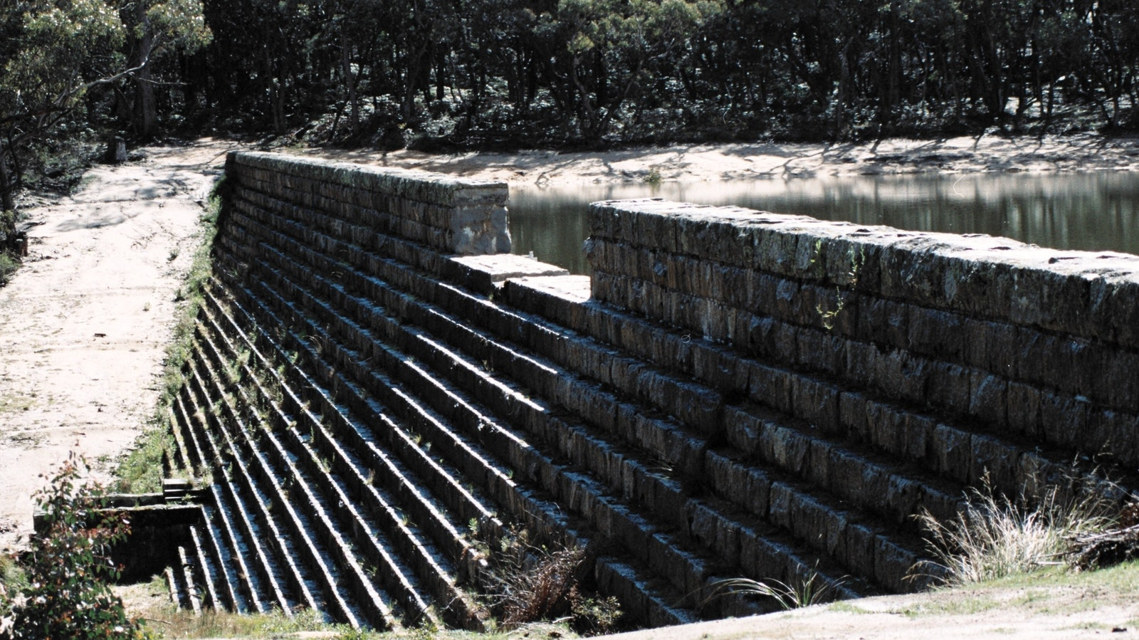 Hand built stone reservoir, Langi Ghiran State Park - GRAMPIANS