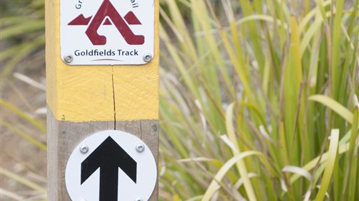 Signage along the Goldfields Track