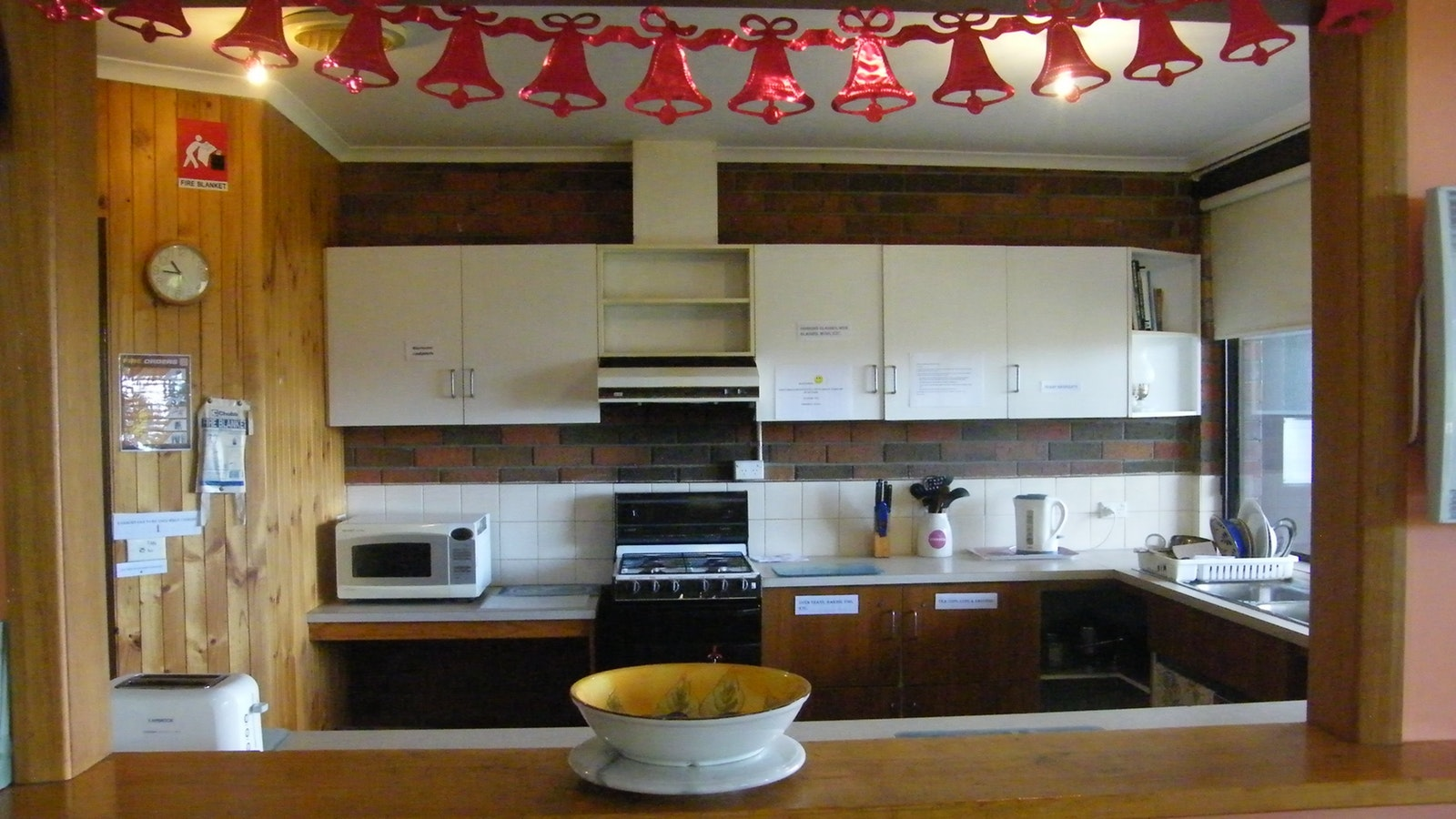 Kitchen fully equipped for communal use