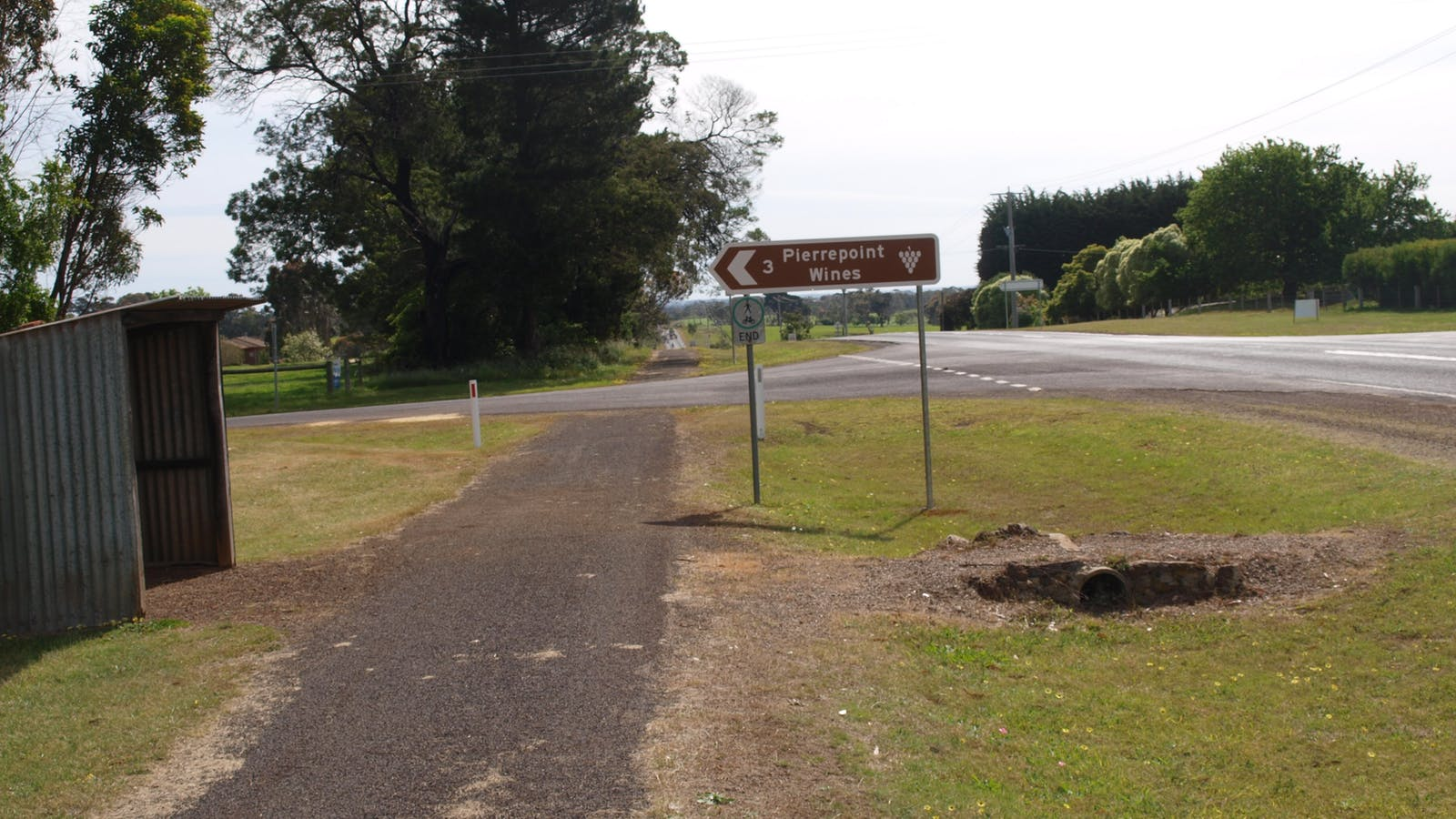 Road sign from Tarrington