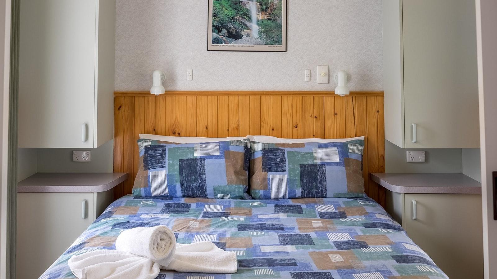 Queen-sized bed in master bedroom