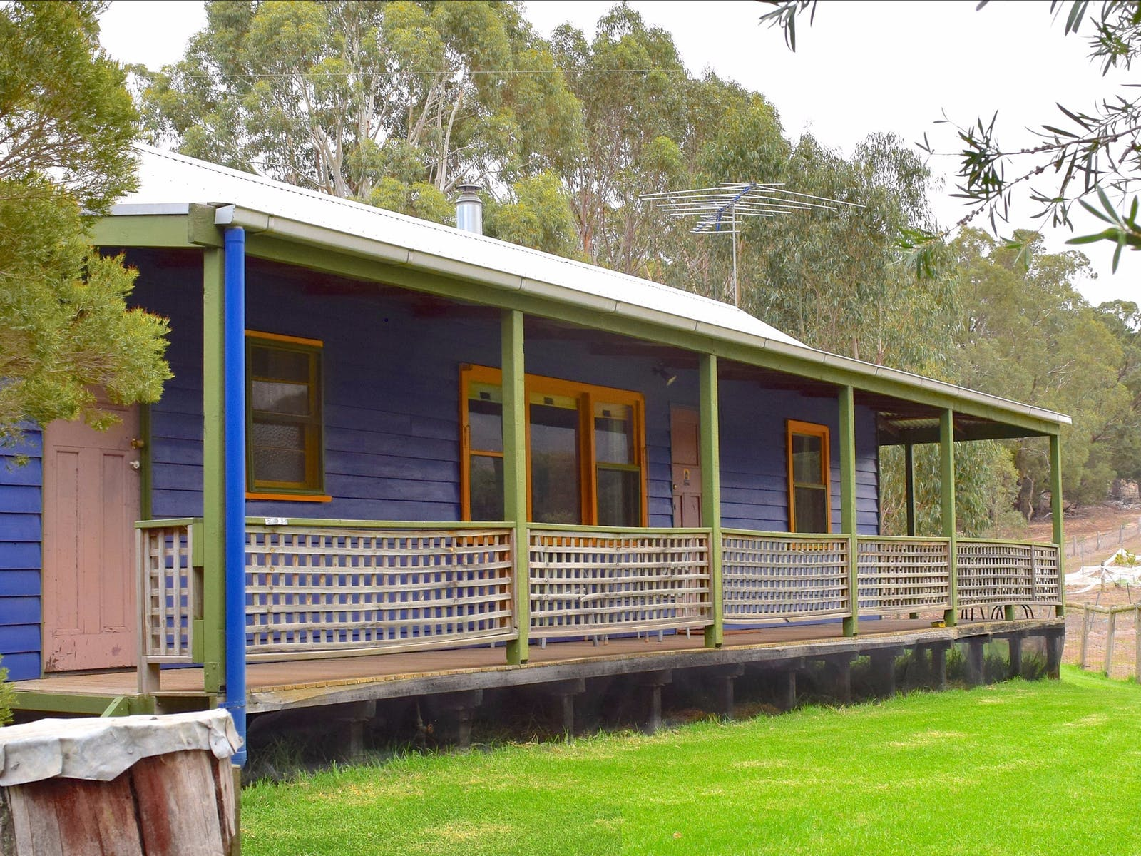 The deck of the Blue House