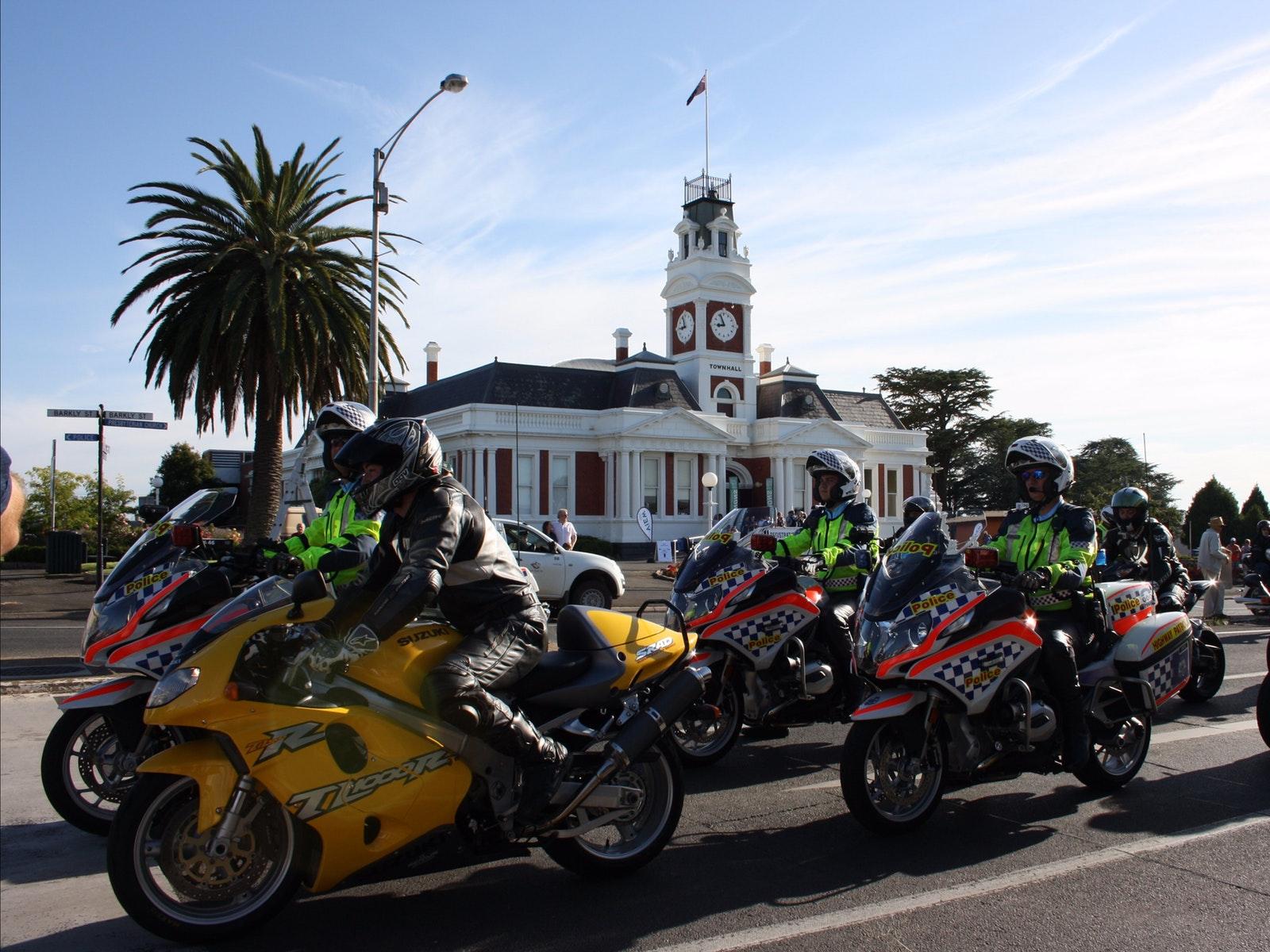 Police bikes - Ararat Town Hall