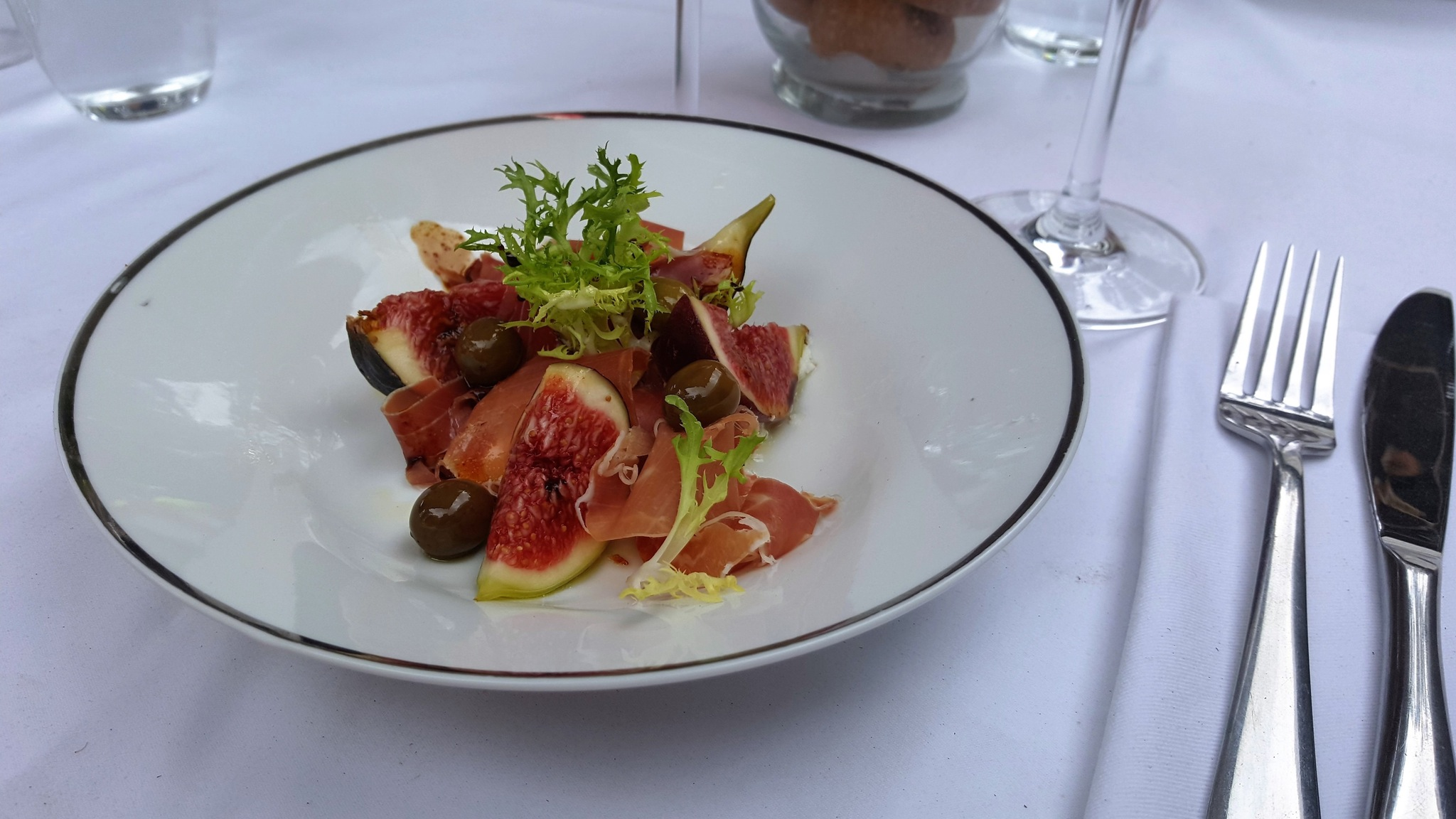 Fig, Prosciutto and Goat Curd Salad