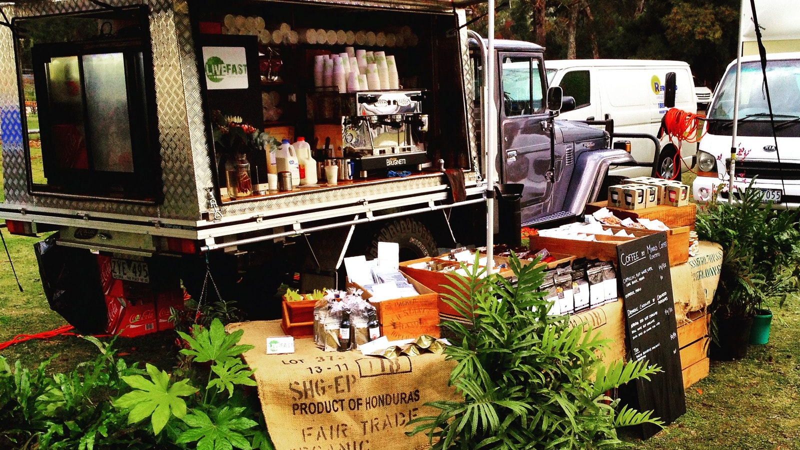 You might even spot Livefast's mobile coffee ute cruising around local Grampians events