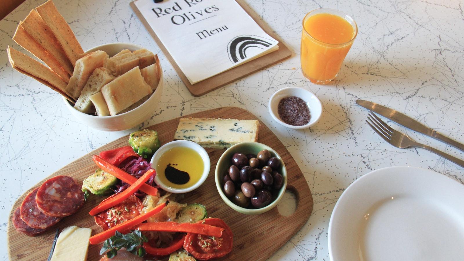 Red Rock Olives Grazing Platter