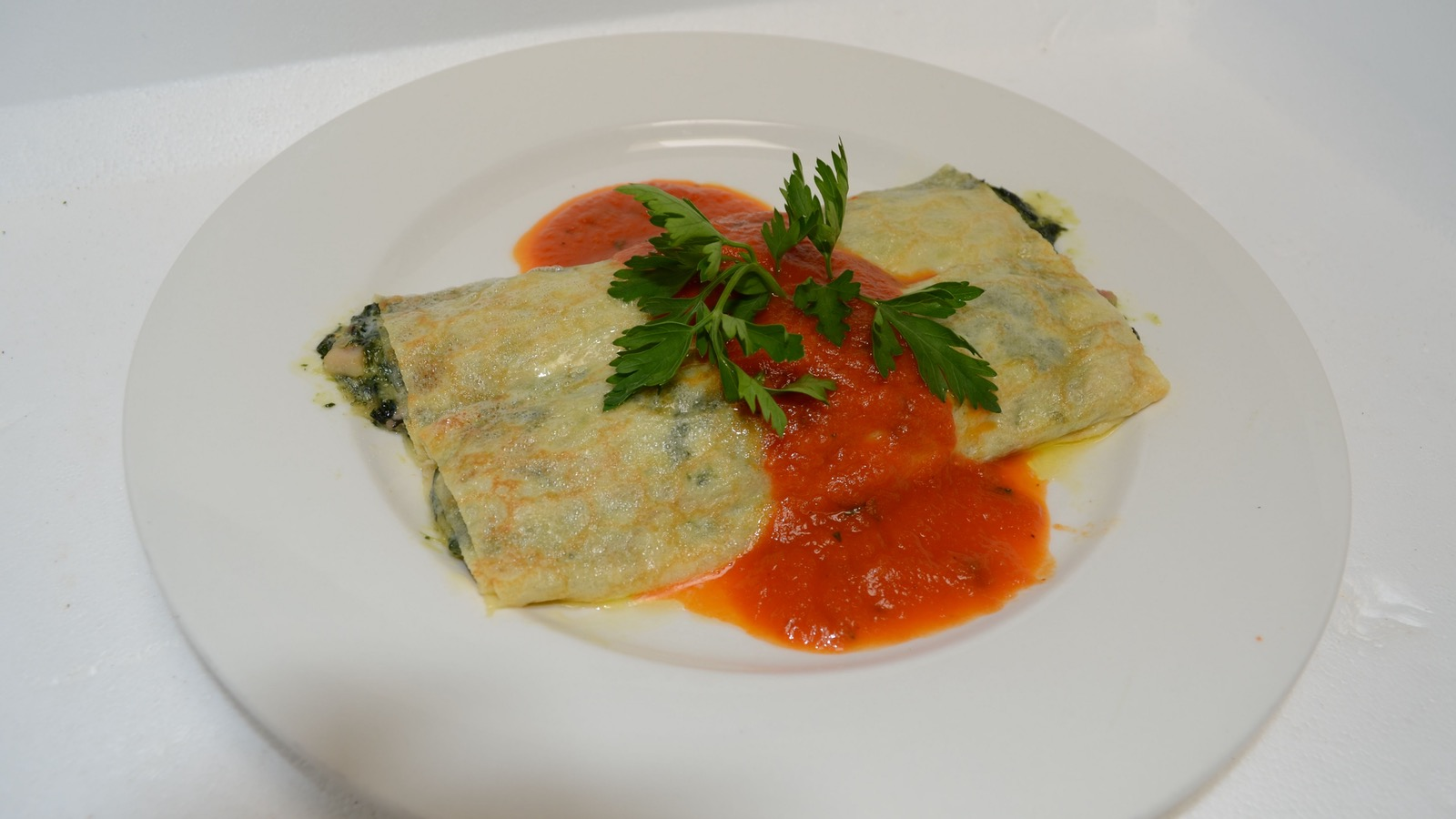 The Kookaburra's famous spinach crepes