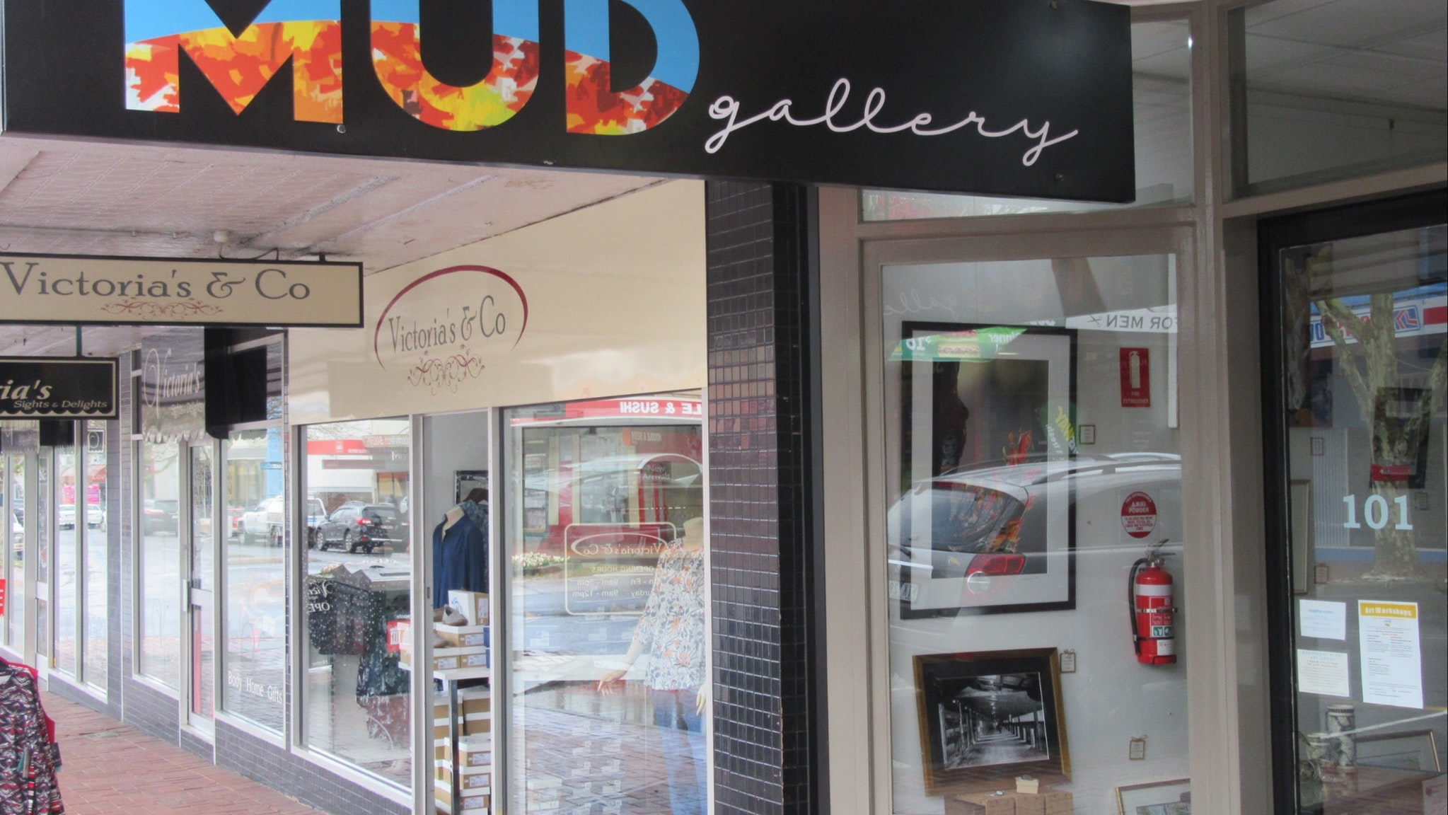 New signage on the Gallery