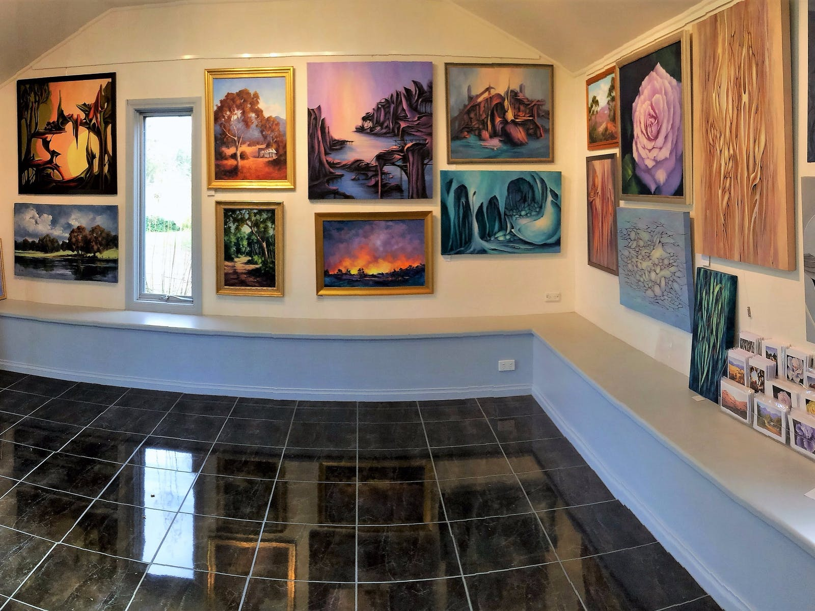 Interior of Ros McArthur Art Studio