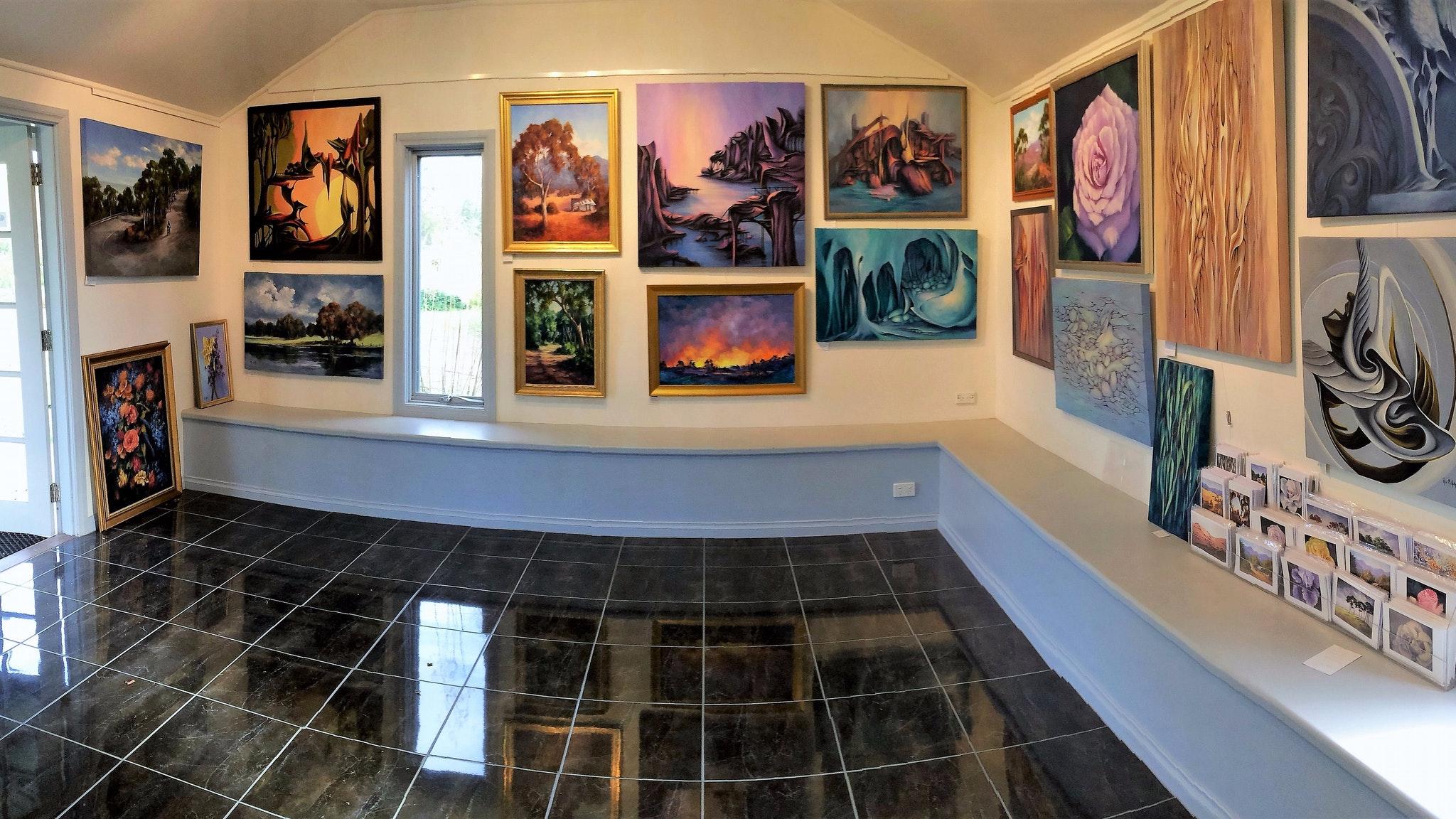 Interior of Ros McArthur Art Studio